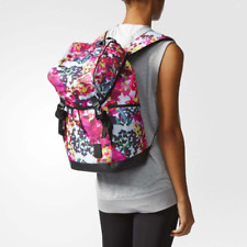 bddac263f559 Adidas Womens Girls Floral Printed Gym Backpack Sport School Pink Multi  Colour