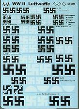 WW2 Luftwaffe decal 1/32 Ar196 Ju87 Bf110 Fw190 He111 Bf109 Ju88 1/48 Ju52 Phoen