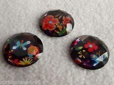 Robe it up boutons ~ hippie chic ~ 3 belles fleurs à facettes ~ Années 60 Rétro