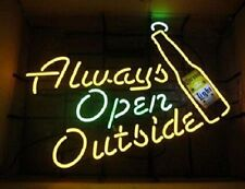 "New Corona Light Always Open Outside Beer Bar Pub Light Lamp Neon Sign 24""x20"""