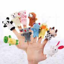 Baby Kids Plush Cloth Play Game Learn Story Family Finger Puppets Toys Set 10PCS