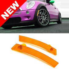 02-08 MINI COOPER R50 R52 R53 EURO FRONT BUMPER SIDE MARKER LIGHTS - AMBER