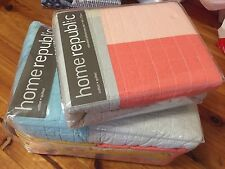 ADAIRS HOME REPUBLIC HERMOSA QUILTED CORAL QUILT COVER SET RRP$300