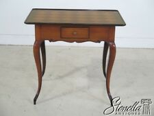29038E: Country French 1 Drawer Occasional Table w. Marquetry Top