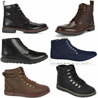Firetrap Baccara Lennon Tempo Lace Up Mens Synthetic Leather Boots B9A