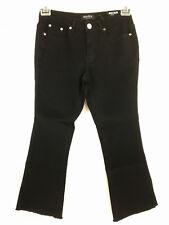 Deja Bleu Kick Flare Capris Crop Jeans Womens Size 4 black frayed hem  NEW