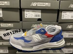 New Balance 992 DTLR VARSITY GREY BLUE RED  DS NEW M992DL USA 7.5-13 **IN HAND**