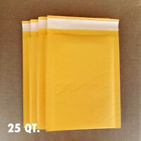 "25 #000 4""x8"" Kraft Paper Bubble Padded Envelopes Mailers Shipping Case"