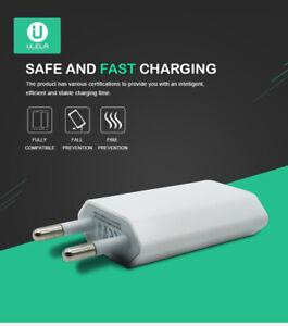 EU Euro 2 Pin Travel Plug Adapter Compact USB Smart Mains Charger White Black