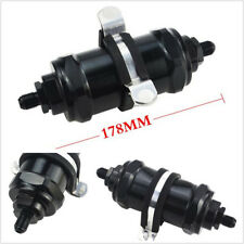 Car Truck AN 10 Specification Black E85 Aluminum Gasoline Fuel Filter With Fixer