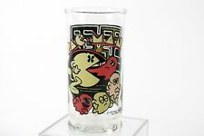 Vintage unused 1982 Pac-Man glass tumbler drink cup Bally Midway Mfg 108