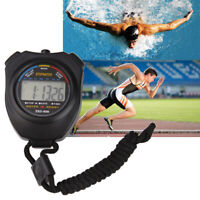 Neue Sport Stoppuhr Profi Handheld Digital LCD Sport Chronograph Counter St