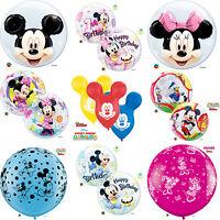 DISNEY Mickey & Minnie Mouse Qualatex Latex & Bubble Balloons (Birthday/Party)