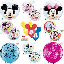 DISNEY Mickey & Minnie Mouse Qualatex Latex & Bubble Balloons (Birthday/Party)