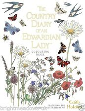 Country Diary of an Edwardian Lady Adult Colouring Book Flowers Nature Butterfly