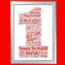 1St Birthday Word Art Fantastic Personalised Decorative Gift For A Special One