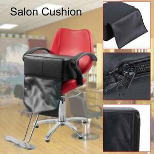 Barber Child Kids Cushion Chair Seat Booster Barber Salon Extra Thick in Black
