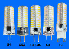 G4/G5.3/GY6.35/G8/G9 Led bulb 80-4014 SMD 5W Dimmable Silicone Bright Light Lamp