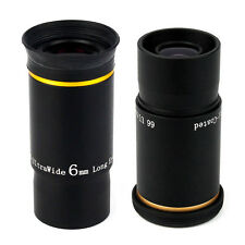 "New Fully Multi-Coated 1.25"" 31.7mm 6mm+9mm U/W Angle Eyepiece Set for Telescope"