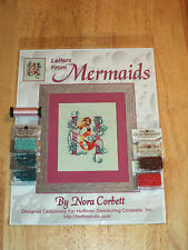 Nora Corbett LETTERS FROM MERMAIDS LETTER H Pattern, Beads, Kreinik MIRABILIA