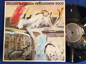 GERARD SIRACUSA PERCUSSION GRIM ORIG FRANCE LP NEAR MINT