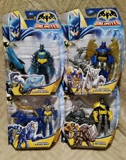 NEW Batman Unlimited lot of 4 Batman Action Figures 2014 Shark Wolf Dragon Rhino