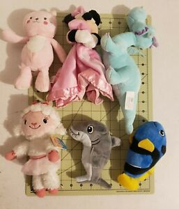 Lot Of 6 Disney and other  Plush Stuff Dolls pre owned