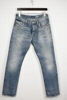 G-STAR RAW BULLIT TAPERED Men's W31/~L30* Fade Effect Light Blue Jeans 32354-JS
