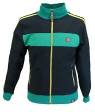 Trojan Records Mens Black Jamaica Stripe Retro Track Tops