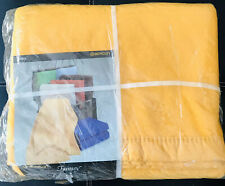 "VTG BEACON FANTASY TWIN/FULL SZ BLANKET 72"" x 90"" GOLD/YELLOW NEW IN PACKAGE NOS"