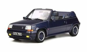 Renault 5 GT Cabriolet by EBS (1990) in Dark Blue (1:18 scale by OttOmobile OT28