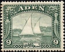 Aden 1937 Dhow  9p.Deep Green  SG.2 Mint (Hinged)