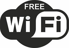 2x 'FREE WIFI' SIGN STICKERS FOR DOORS OR WALLS 24 COLOURS for CAFE BAR CLUB PUB