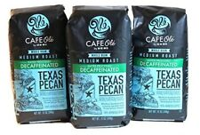 HEB Cafe Ole Whole Bean Coffee,Texas Pecan (Decaf) 3 Pack
