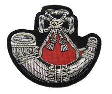 Badge Light Infantry Embroidered Bullion Blazer Badge Silver Army Military R1671