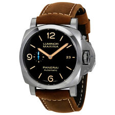 Panerai Luminor Marina 1950 Brown Dial Automatic Mens Brown Leather Watch
