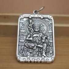 Solid 925 Sterling Silver Acalanatha Buddha Pattern Pendant Blessing