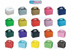 Coloured Party Boxes for Children Kids Food Loot Lunch Gift Birthday Box Bags