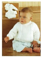 Knitting pattern baby boy Sweater, jumper, pullover in DK. Cable. From 0-6 years