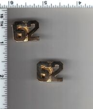 62nd Precinct Police Collar Brass Set - from the New York City/New Jersey Area