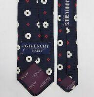 GIVENCHY Gentleman PARIS Vintage SILK TIE Men's Classic Checked Woven Necktie