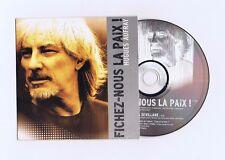 CD SINGLE PROMO HUGUES AUFRAY FICHEZ NOUS LA PAIX