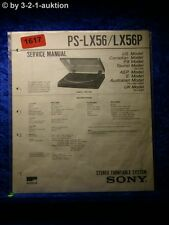 Sony Service Manual PS LX56 / LX56P Turntable System (#1617)