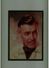 "Clark Gable, Hollywood Legend, Signed 8"" x 10"" Color Photo, Matted & Framed, COA"