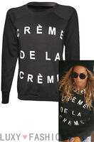 NEW LADIES/WOMENS CELEB INSPIRED CREME DE LA CREME SWEATSHIRT JUMPER TOP 8-14