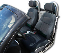 AUDI TT BLACK IGGEE S.LEATHER CUSTOM FIT FRONT SEAT COVER