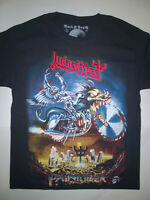 JUDAS PRIEST T-Shirt RARE Embroidered Logo Painkiller Iron Maiden Saxon Accept