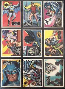 1966 Topps Batman Series Rare BLACK Bat COMPLETE SET 55/55 + #1 Batman #2 Robin