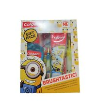 NEW Colgate Despicable Me Minions Brushtastic Gift Pack 4 PC Set