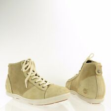 Women's Timberland EarthKeeper Shoes Beige Suede Wedge Sneakers Sz 10.5 W NEW!
